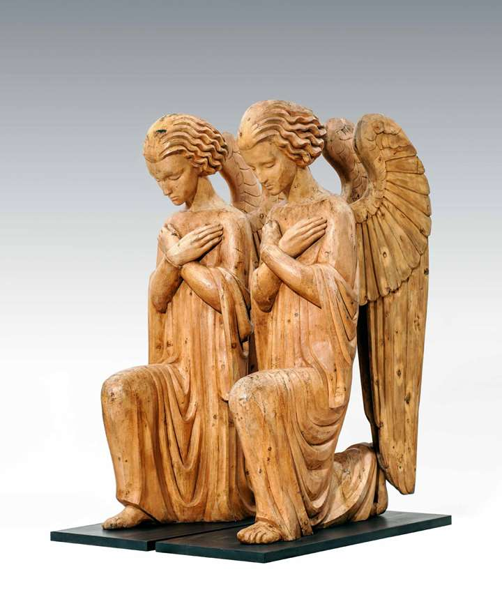 A Pair of Extraordinary Angels from Neulerchenfeld Parish, Vienna