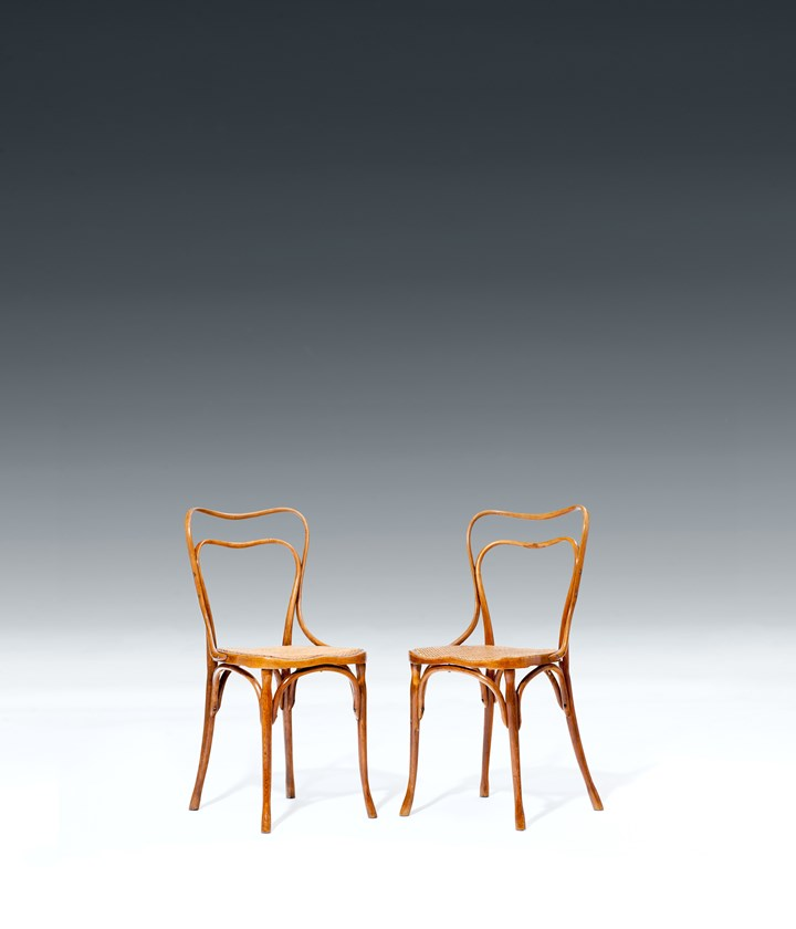 A PAIR OF CHAIRS FOR THE CAFE MUSEUM