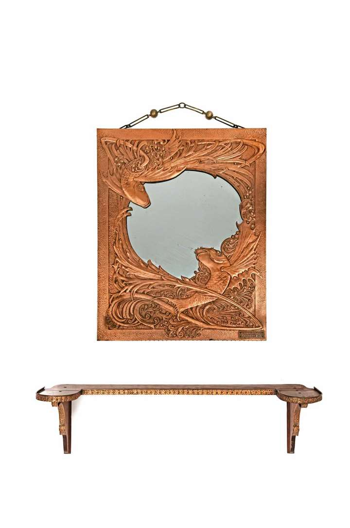 EXTRAORDINARY MIRROR WITH SHELF
