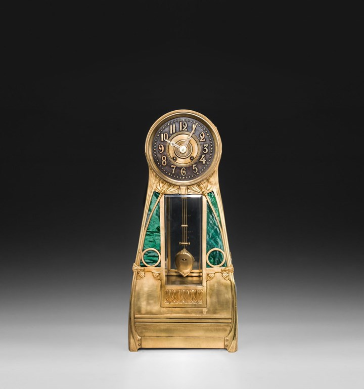 BIG SECESSIONIST VIENNESE MANTLEPIECE CLOCK