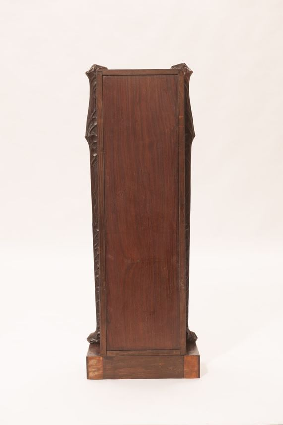 "Bernhard Ludwig - ETAGERE ""MÜNCHEN"" from  FURNITURE FOR A GENTLEMEN'S STUDY consisting of: bookcase, desk and chair, side table, long case clock  