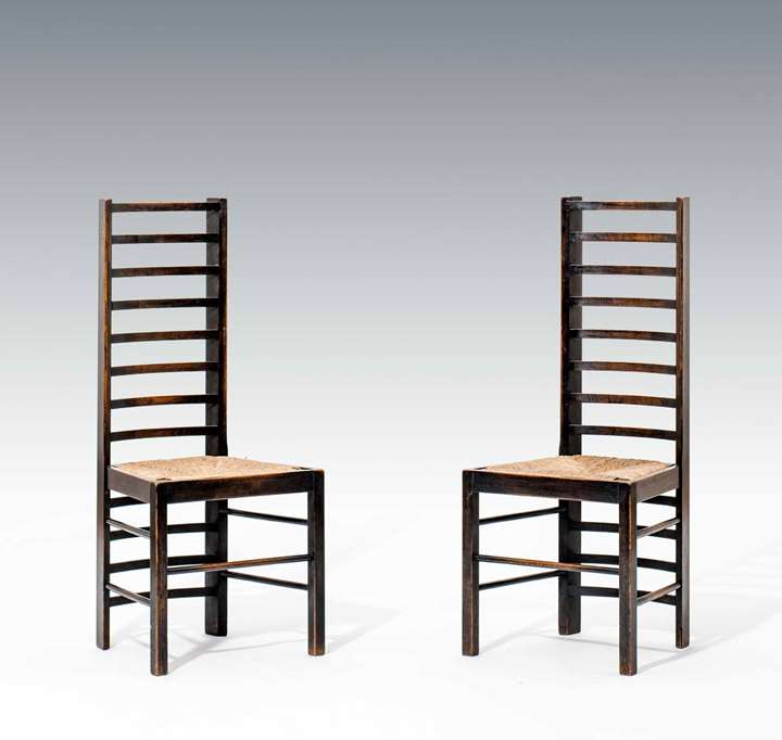 A Pair of Ladderback Chairs