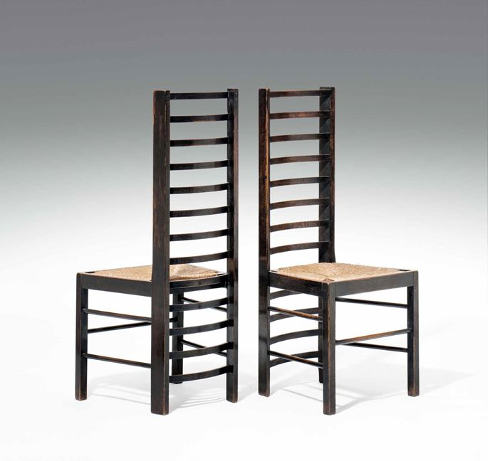 Charles Rennie Mackintosh - A Pair of Ladderback Chairs for Miss Cranston's Willow Tea House in Glasgow | MasterArt