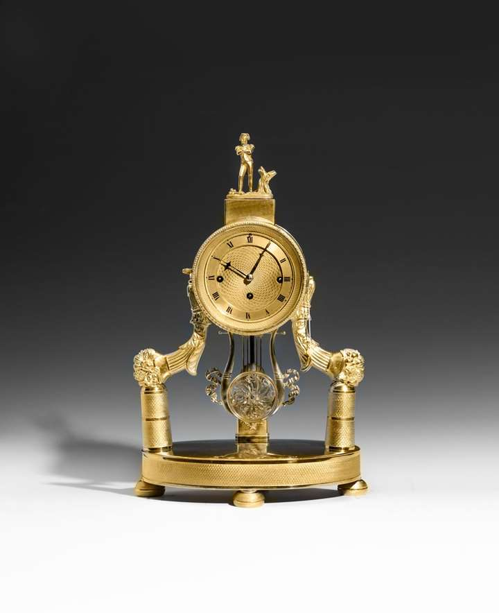 EMPIRE MANTLEPIECE CLOCK EMPEROR NAPOLEON BONAPARTE
