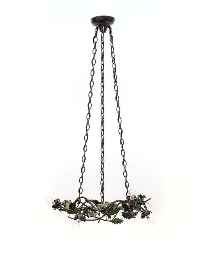 FIVE-BULB HOLLY CHANDELIER