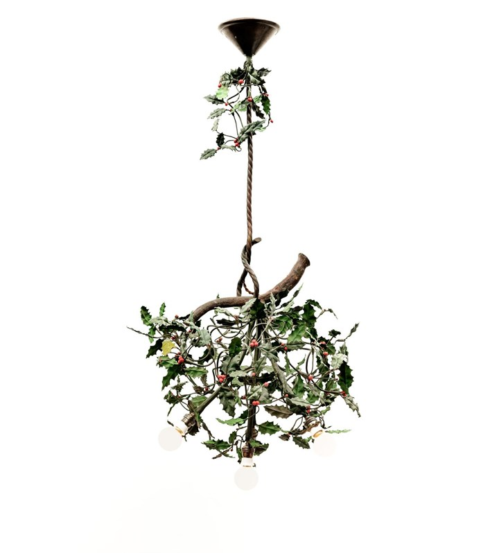 FOUR-BULB HOLLY CHANDELIER