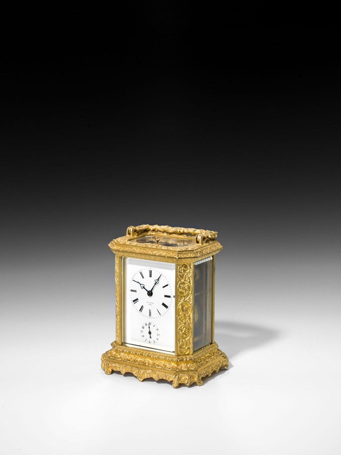FRENCH CARRIAGE CLOCK WITH ALARM | MasterArt
