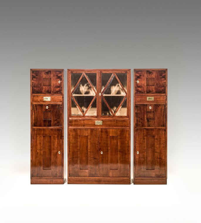 Franz Messner - SCHOOL OF PROF. JOSEF HOFFMANN WIENER KUNST IM HAUS  SUITE OF THREE CABINETS consisting of: 1 glass-fronted cabinet, a pair of mirrored cabinets  | MasterArt