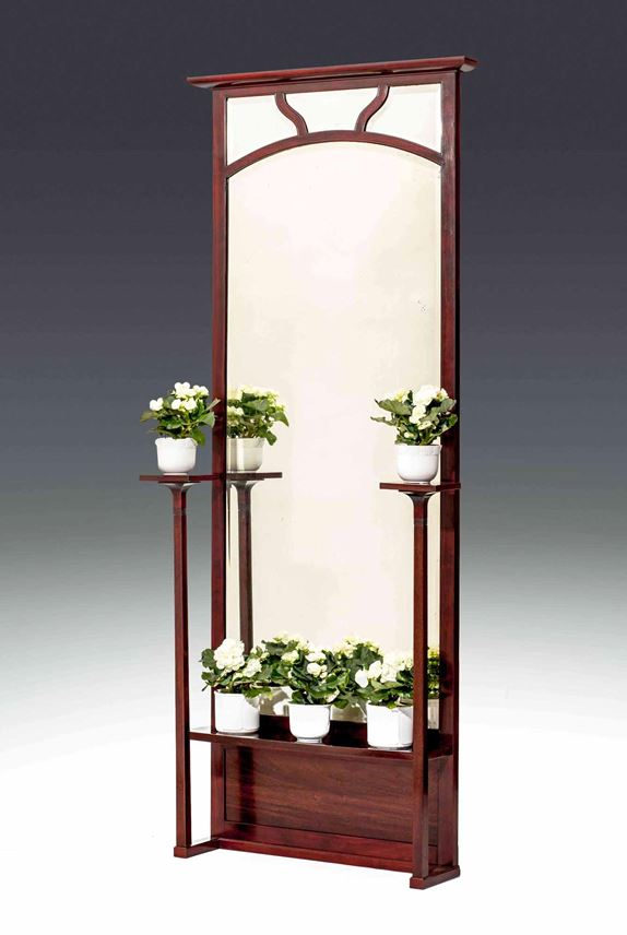 HALL MIRROR WITH TWO PLANT STANDS | MasterArt