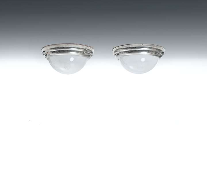 A PAIR OF CEILING LAMPS