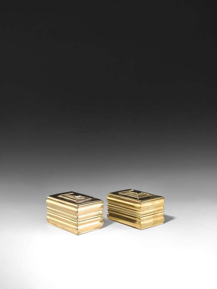 A PAIR OF CIGARETTE BOXES