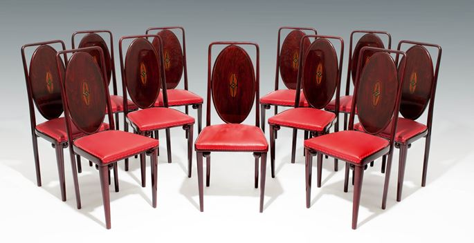Josef Hoffmann / J. & J. Kohn - A Set of Eleven Side Chairs | MasterArt
