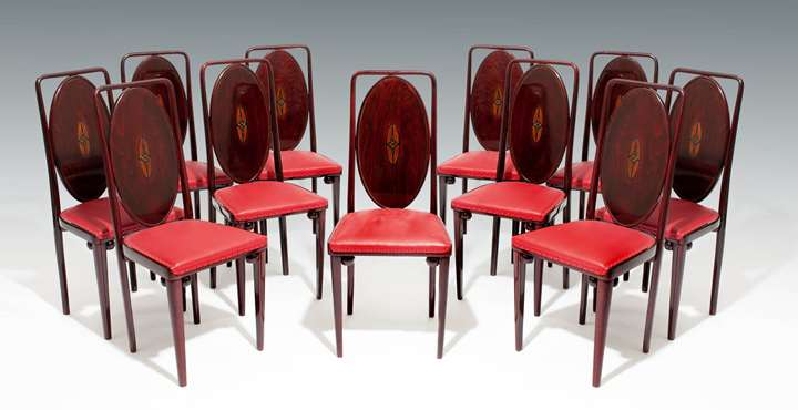 A Set of Eleven Side Chairs