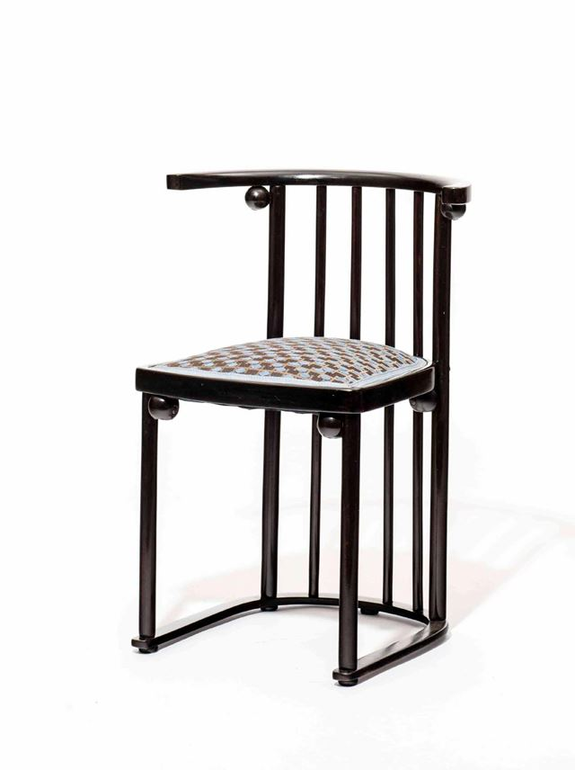 "Josef  Hoffmann - FOUR ""FLEDERMAUS"" CHAIRS AND TABLE 