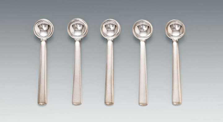 Five Mocca Spoons