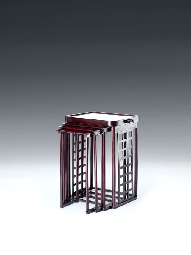 Josef  Hoffmann - NESTING TABLES WITH SQUARE LATTICE | MasterArt