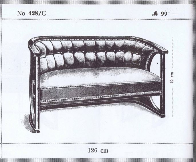 Josef  Hoffmann - SEATING GROUP so-called half-moon suite consisting of: 2 settees, 8 armchairs  | MasterArt