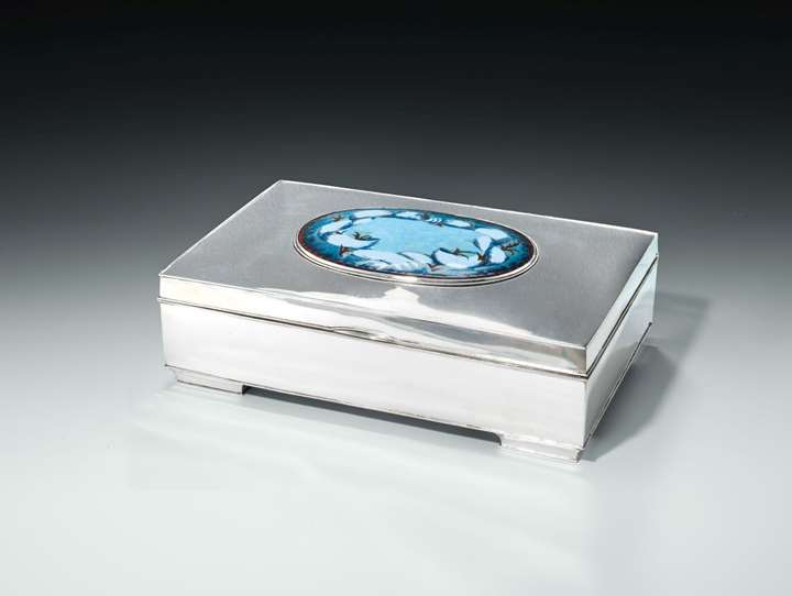 SILVER BOX FOR DIRECTOR K. PLATZER