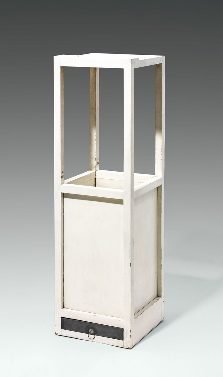 SMALL RECEPTION TABLE WITH PENCIL TRAY AND UMBRELLA STAND