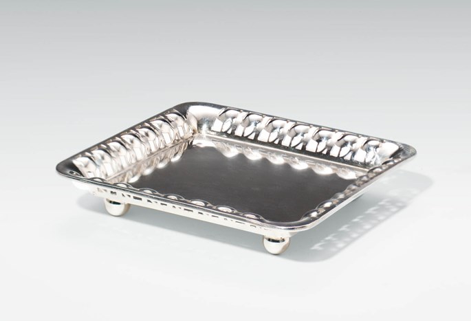 Josef  Hoffmann - Silver Tray for Visiting Cards | MasterArt