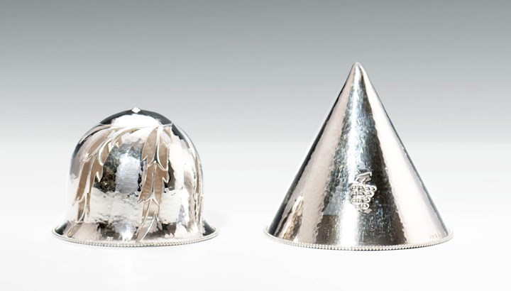 Two Silver Bottle Stoppers