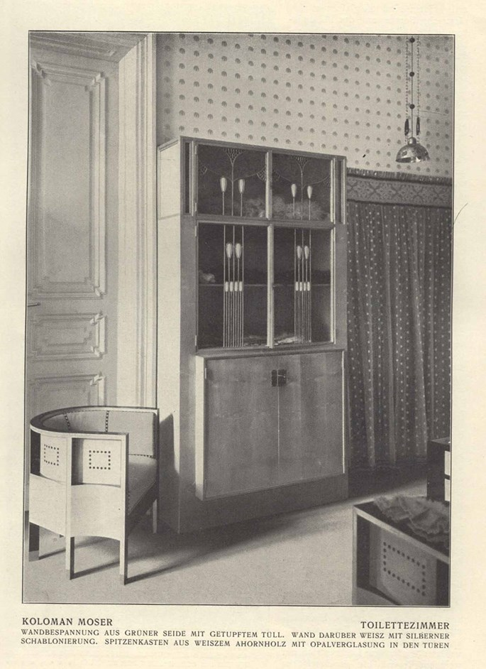 Koloman Moser - Cabinet for Lace | MasterArt