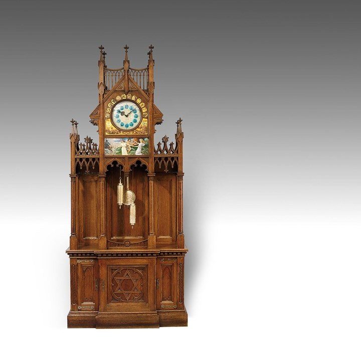 LARGE NEO-GOTHIC HALL CLOCK