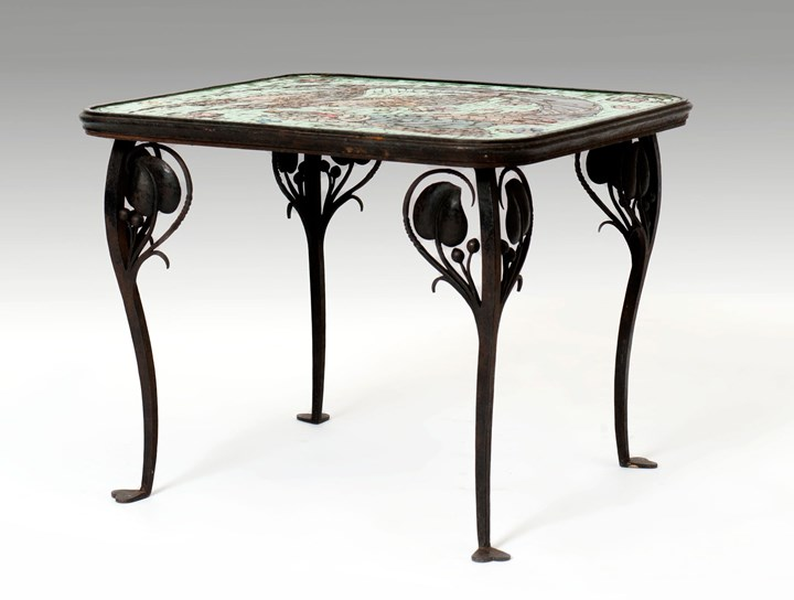 Table with a Glass Mosaic Tabletop