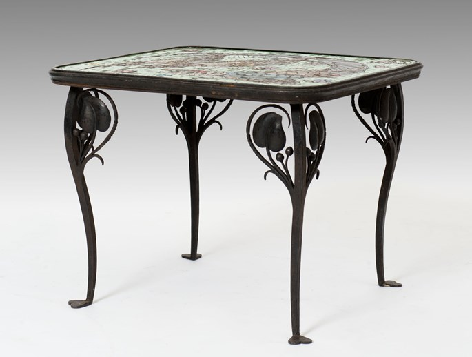 Leopold Forstner - Table with a Glass Mosaic Tabletop | MasterArt