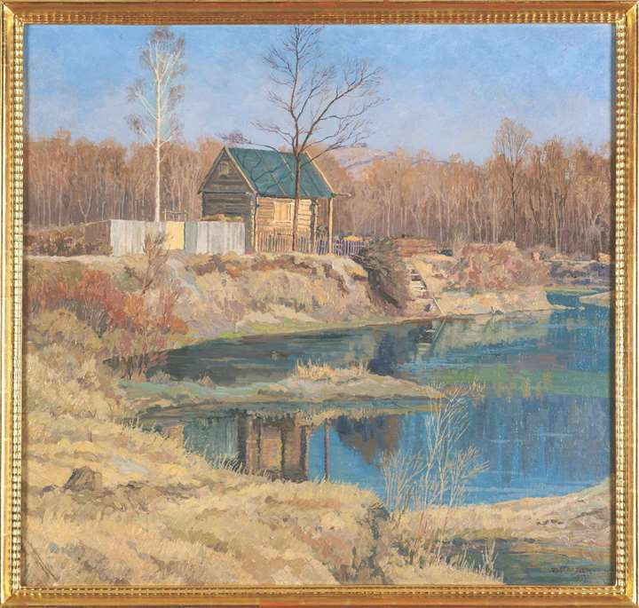 WOODEN HOUSE IN THE RIVERINE WETLANDS