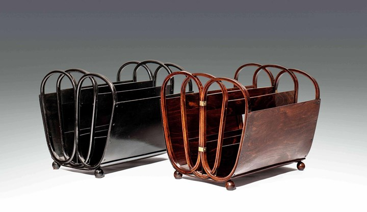 TWO MAGAZINE RACKS