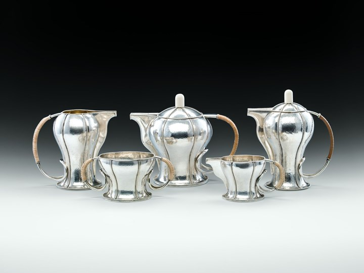 FIVE-PIECE COFFEE AND TEA SET