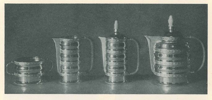 Otto Prutscher - SILVER MILK JUG WITH SIX CUPS | MasterArt