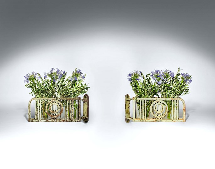 Otto Wagner - FOUR PAIRS OF EXTRAORDINARY HINGED WALL JARDINIERS | MasterArt