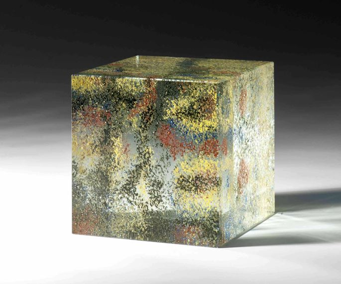 Peter Wechsler - GLASS CUBE Catalogue raisonné glass, no. XIn  | MasterArt
