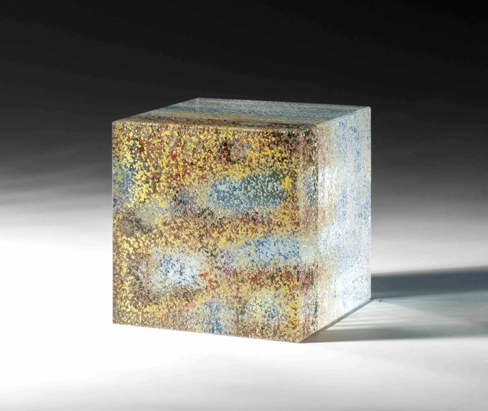 Peter Wechsler - GLASS CUBE Catalogue raisonné glass, no. XIo  | MasterArt