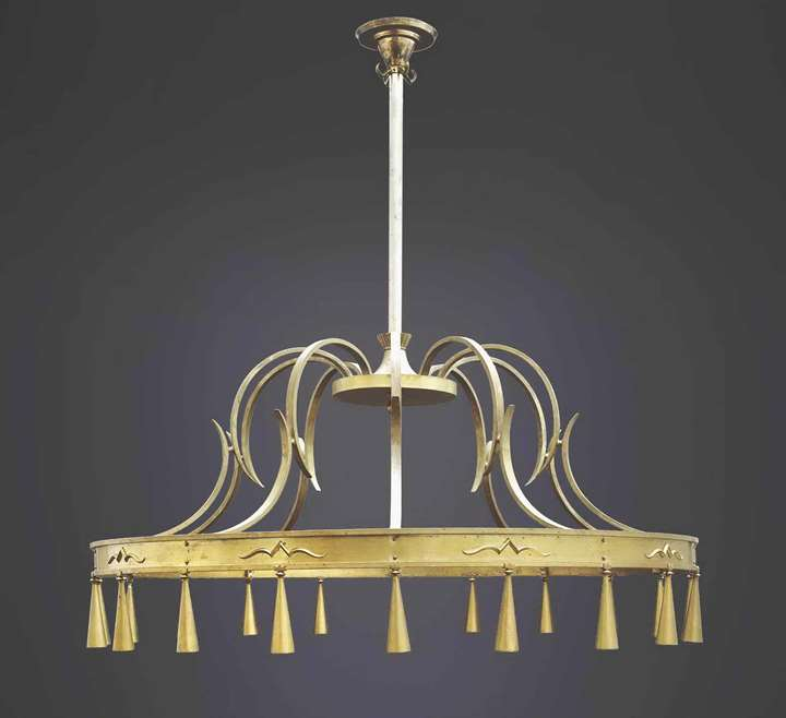 REPRESENTATIVE HUGE ART DECO CHANDELIER