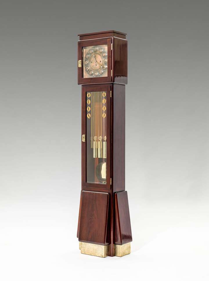 ART NOUVEAU LONG CASE CLOCK