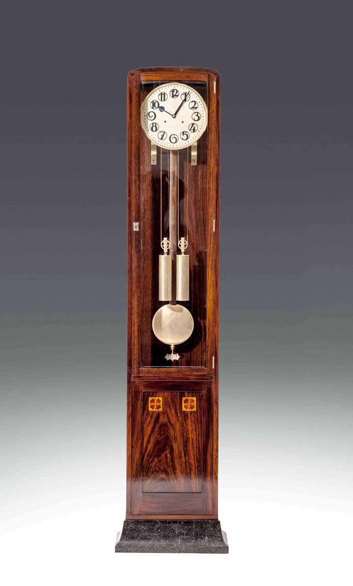 EXTRAORDINARY ART NOUVEAU LONG CASE CLOCK