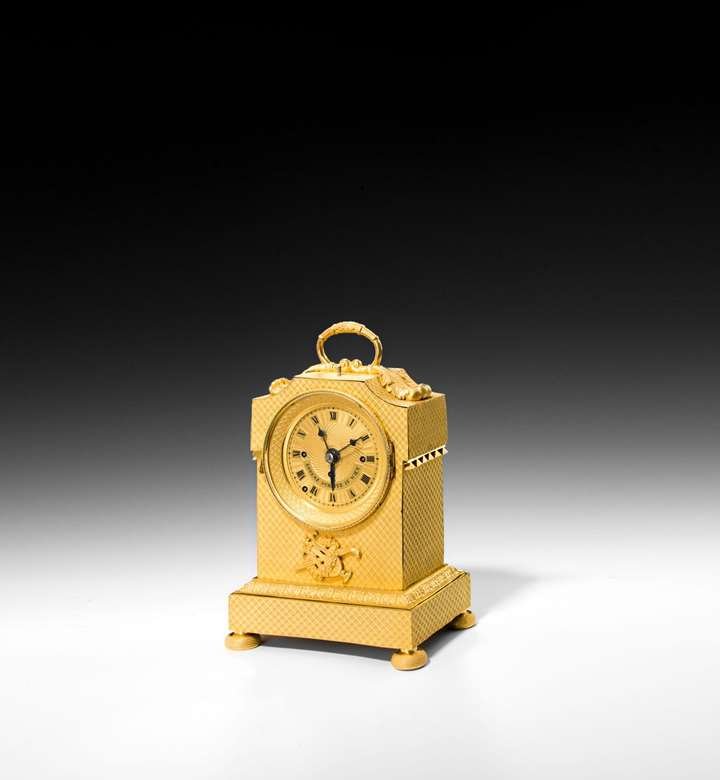 EMPIRE CARRIAGE CLOCK WITH ALARM