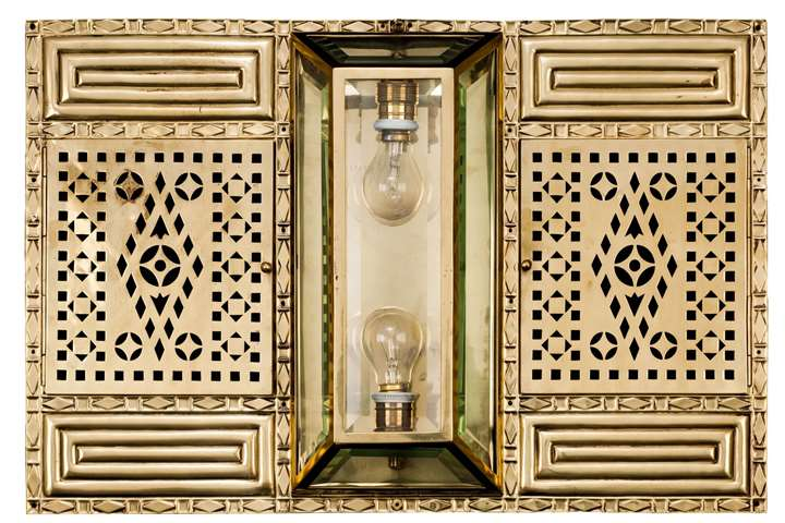 A PAIR OF EXTRAORDINARY SECESSIONIST WALL SCONCES