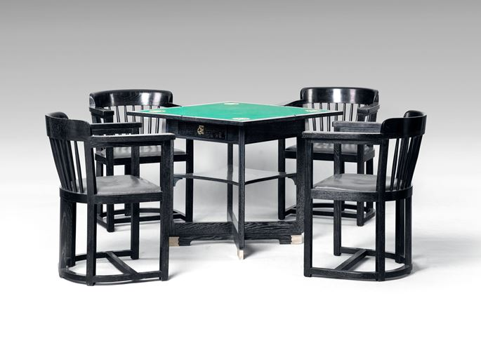 Wilhelm Schmidt - Gaming Table with Four Armchairs | MasterArt