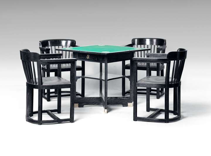 Gaming Table with Four Armchairs