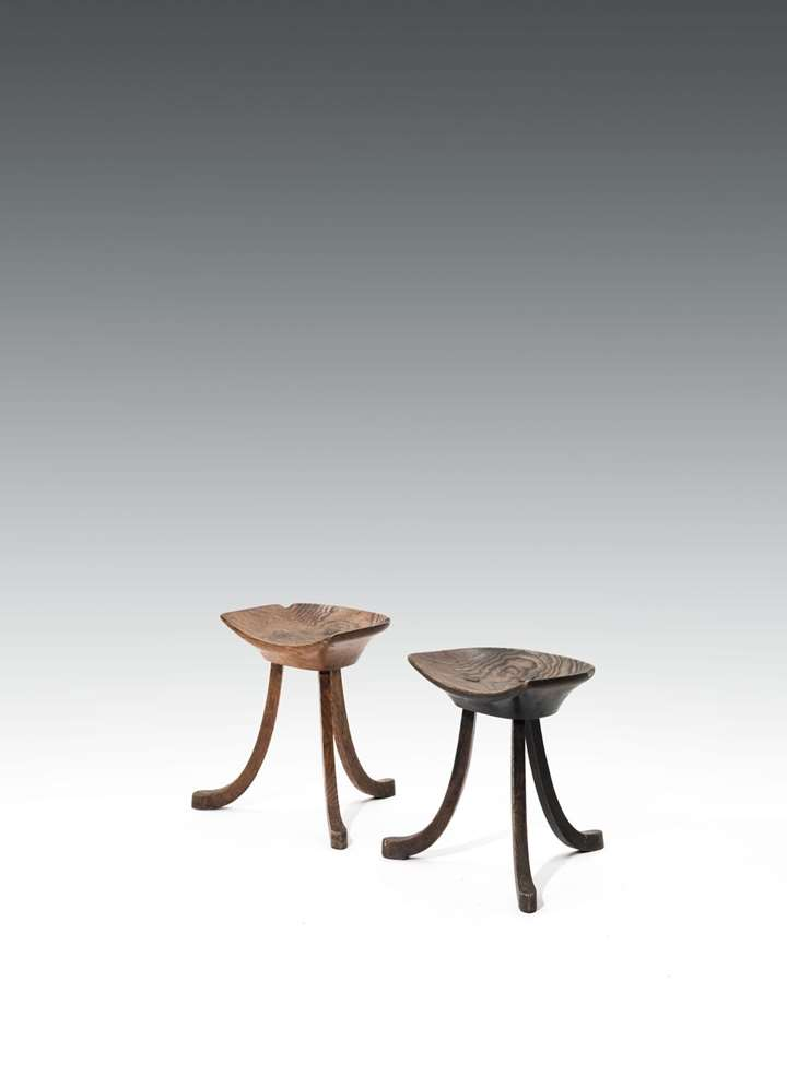 A PAIR OF THEBEN STOOLS