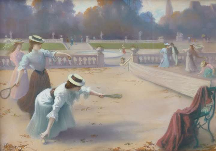"""TENNIS IN THE JARDIN DU LUXEMBOURG"""