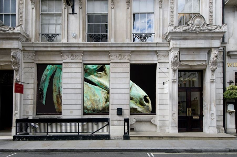 Nic Fiddian Green at Sladmore's Bruton Place gallery