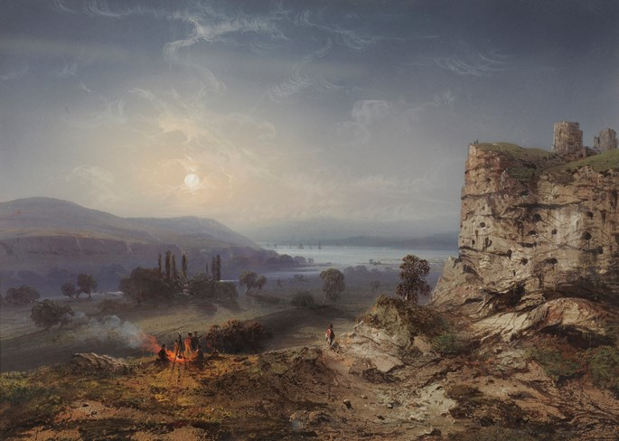 Carlo  Bossoli  - View of the valley of Inkermann | MasterArt
