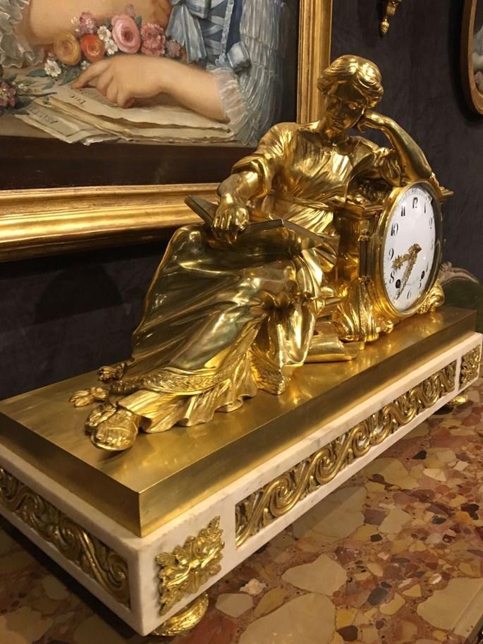 A Louis XVI mantel clock, Pendule a la Geoffrin   MasterArt