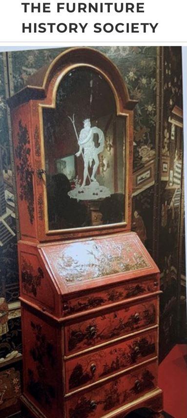 A small venitian red lacca bureau cabinet | MasterArt