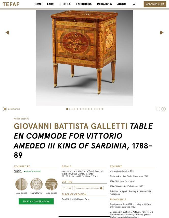 Giovanni Battista Galletti - An Important Royal Piedmontese Centre-Table en Commode  | MasterArt